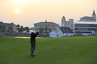 Ross Fisher (ENG) plays his 2nd shot on the the playoff hole during Sunday's Final Round of the 2014 BMW Masters held at Lake Malaren, Shanghai, China. 2nd November 2014.<br /> Picture: Eoin Clarke www.golffile.ie