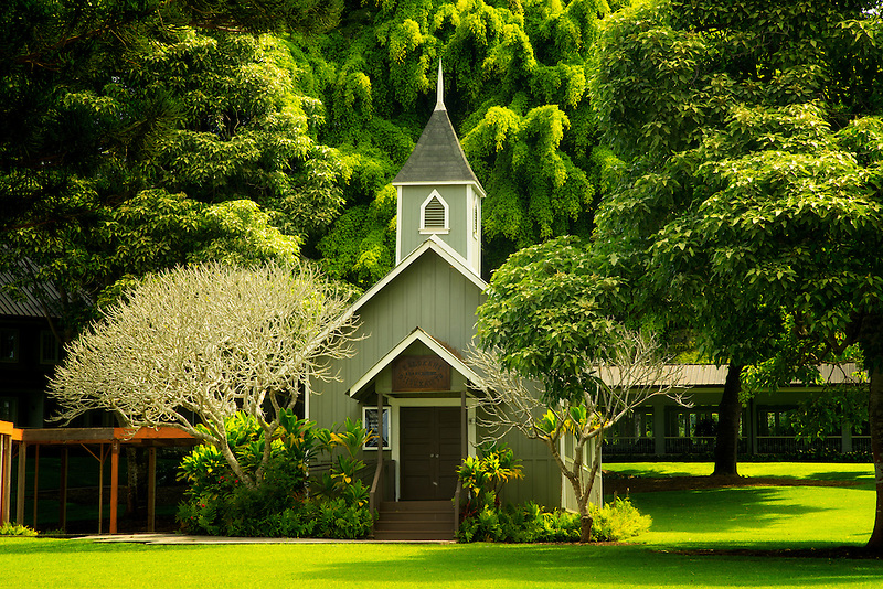Church at Four Seasons Lodge at Koele. Lanai, Hawaii.