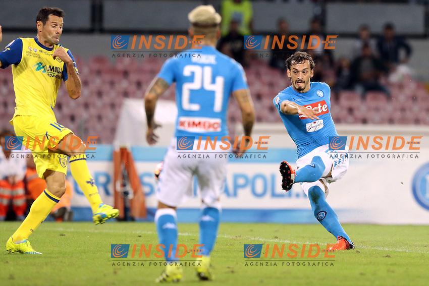 Gol di Manolo Gabbiadini Napoli, goal celebration  <br /> Napoli 24-09-2016 Stadio San Paolo<br /> Football Calcio Serie A 2016/2017 Napoli - Chievo<br /> Foto Cesare Purini / Insidefoto