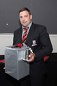 Steelers Most Improved Player of the Year Sean Bagshaw. Counties Manukau Rugby Unions Senior Prize giving held at ECOLight Stadium Pukekohe on Wednesday November 2nd, 2016.<br /> Photo by Richard Spranger.