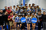 INDIANAPOLIS, IN - MARCH 18: Stanford Holds up their trophey after winning the Division I Women's Swimming & Diving Championships held at the Indiana University Natatorium on March 18, 2017 in Indianapolis, Indiana. (Photo by A.J. Mast/NCAA Photos via Getty Images)