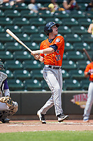 Kyle Tucker (30) of the Buies Creek Astros follows through on his swing against the Winston-Salem Dash at BB&T Ballpark on April 16, 2017 in Winston-Salem, North Carolina.  The Dash defeated the Astros 6-2.  (Brian Westerholt/Four Seam Images)