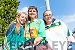 Lenora and Margaret Kelly with Noreen Broderick (all from Brosna), pictured at the All-Ireland football semi-final Kerry v Dublin in Croke Park on Sunday.
