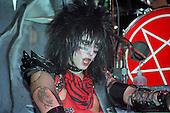NEW YORK CITY, NY JANUARY 30: Nikki Sixx of Motley Crue performS at Madison Square Garden on on January 30, 1984 in New York City, New York.  photo by Larry Marano (C) 1984.