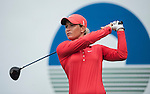 TAOYUAN, TAIWAN - OCTOBER 28:  Suzann Pettersen tees off on the 18th hole during the day four of the Sunrise LPGA Taiwan Championship at the Sunrise Golf Course on October 28, 2012 in Taoyuan, Taiwan.  Photo by Victor Fraile / The Power of Sport Images