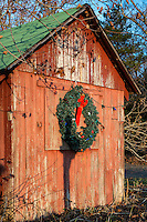 Rustic country Christmas decorations, USA