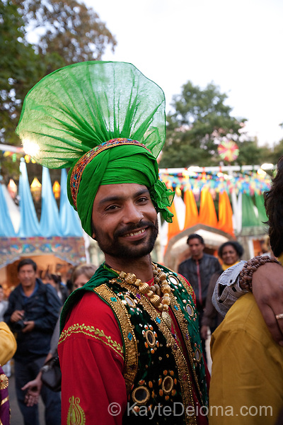 An Indian dancer at Geneva Carnival, Geneva, Switzerland