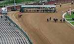 September 1, 2020: Horses break from the brand new 20-horse Kentucky Derby gate for the first time on opening day of Kentucky Derby Week at Churchill Downs in Louisville, Kentucky. Racing was conducted without fans and only essential personnel and limited media due to coronavirus restrictions and protocols. John Voorhees/Eclipse Sportswire/CSM