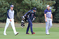 Matthias Schwab (AUT) and Zander Lombard (RSA) on the 2nd during Round 3 of the Sky Sports British Masters at Walton Heath Golf Club in Tadworth, Surrey, England on Saturday 13th Oct 2018.<br /> Picture:  Thos Caffrey | Golffile
