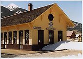 Partial view of Silverton depot, north end, recent repaint by D&amp;SNG.<br /> D&amp;SNG  Silverton, CO