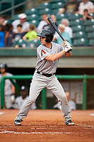Jackson Generals catcher Marcus Littlewood (16) at bat during a game against the Chattanooga Lookouts on May 9, 2018 at AT&T Field in Chattanooga, Tennessee.  Chattanooga defeated Jackson 4-2.  (Mike Janes/Four Seam Images)