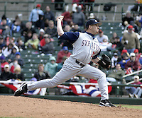 April 10, 2004:  /p/ Vinnie Chulk of the Syracuse Sky Chiefs, Class-AAA International League affiliate of the Toronto Blue Jays, during a game at Frontier Field in Rochester, NY.  Photo by:  Mike Janes/Four Seam Images