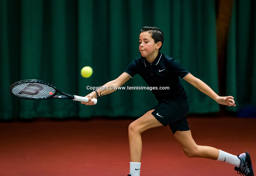 Wateringen, The Netherlands, November 27 2019, De Rhijenhof , NOJK 12 and16 years, Luuk Kroeskop (NED)<br /> Photo: www.tennisimages.com/Henk Koster