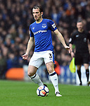 Leighton Baines of Everton during the premier league match at Goodison Park Stadium, Liverpool. Picture date 7th April 2018. Picture credit should read: Robin Parker/Sportimage