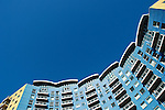 Crown Heights residential apartment development and blue sky, Alencon Link, Basingstoke