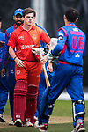 Kyle Christie of HKI United (L) during the Hong Kong T20 Blitz match between Kowloon Cantons and HKI United at Tin Kwong Road Recreation Ground on March 11, 2017 in Hong Kong, Hong Kong. Photo by Marcio Rodrigo Machado / Power sport Images