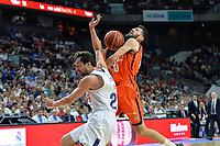 MADRID, ESPAÑA - 11 DE JUNIO DE 2017: Sergio Llull y Sastre durante el partido entre Real Madrid y Valencia Basket, correspondiente al segundo encuentro de playoff de la final de la Liga Endesa, disputado en el WiZink Center de Madrid. (Foto: Mateo Villalba-Agencia LOF)
