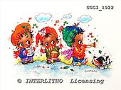 GIORDANO, CHRISTMAS CHILDREN, WEIHNACHTEN KINDER, NAVIDAD NIÑOS, paintings+++++,USGI1922,#XK#