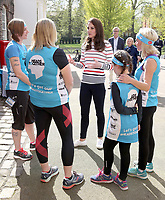 19 April 2017 - London, England - Princess Kate Duchess of Cambridge at a reception for runners from Team Heads Together ahead of the 2017 Virgin Money London Marathon at Kensington Palace London. Photo Credit: ALPR/AdMedia