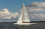 "Custom 48 ""waterwitch"" cruising, Narragansett Bay, in Newport Rhode Island."