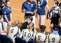 Florida International University women's volleyball Head Coach Danijela Tomic during the game against Arkansas State University.  FIU won the match 3-2 on October 21, 2011 at Miami, Florida. .