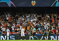 Expulsion of Ronaldo during the football match between Valencia CF and Juventus FC on September 19, 2018 at Mestalla stadium in Valencia, Spain.
