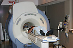 Patient being loaded into MRI.  2005 MR