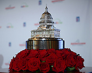 Bethesda, MD - May 19, 2014: The Quicken Loans National trophy is displayed at the Congressional Country Club during media day for the Quicken Loans National golf tournament. The proceeds of the tournament benefit the Tiger Woods Foundation.   (Photo by Don Baxter/Media Images International)