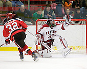 Aaron Bogosian (St. Lawrence - 32), Kyle Richter (Harvard - 33) - The St. Lawrence University Saints defeated the Harvard University Crimson 3-2 on Friday, November 20, 2009, at the Bright Hockey Center in Cambridge, Massachusetts.