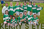 Ballydonoghue under eight football team at the Football Blitz at Frank Sheehy Park, Listowel, on Sunday. Front row l-r, Aoife O'Donnell, Aisling Joy, Jack Kennelly, Cian Horgan, Breandán O'Neill and David Sheehy. Back row l-r: David Lynch, Aoife Lynch, Patrick Kissane, Michael Gogarty, Seán Joy, Daniel Power, Jack Behan and Richard Power.