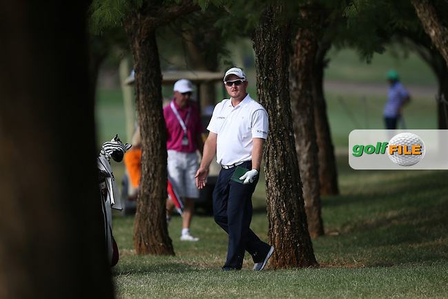 Merrick Bremner (RSA) finds the trees down the last during Round Three of the Tshwane Open 2015 at the Pretoria Country Club, Waterkloof, Pretoria, South Africa. Picture:  David Lloyd / www.golffile.ie. 14/03/2015