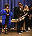 """Ariana DeBose and cast during the press presentation for  """"Summer: The Donna Summer Musical"""" on March 8, 2018 at the New 42nd Street Studios,  in New York City."""
