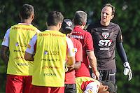 SAO PAULO, SP, 10.09.2013 - TREINO SAO PAULO  FC - Rogerio Ceni (D) durante sessao de treinamento da equipe São Paulo Futebol Clube no Centro de Treinamento da Barra Funda nesta terca-feira, 10. (Foto: William Volcov / Brazil Photo Press).