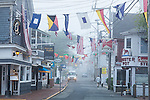 Brightly colored flags in Provincetown, Cape Cod, Massachusetts, USA