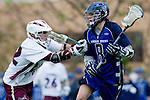Los Angeles, CA 02/18/11 - Peter Fox (LMU #32) and Andrew Harding (BYU #8) in action during the Loyola Marymount - BYU game at LMU.
