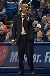 San Jose State head coach Jean Prioleau works the sidelines against Nevada in the second half of an NCAA college basketball game in Reno, Nev., Wednesday, Jan. 9, 2019. (AP Photo/Tom R. Smedes)