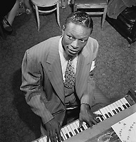 Portrait of Nat King Cole, New York, N.Y.<br /> ,circa June 1947 <br /> <br /> PHOTO :  William P. Gottlieb