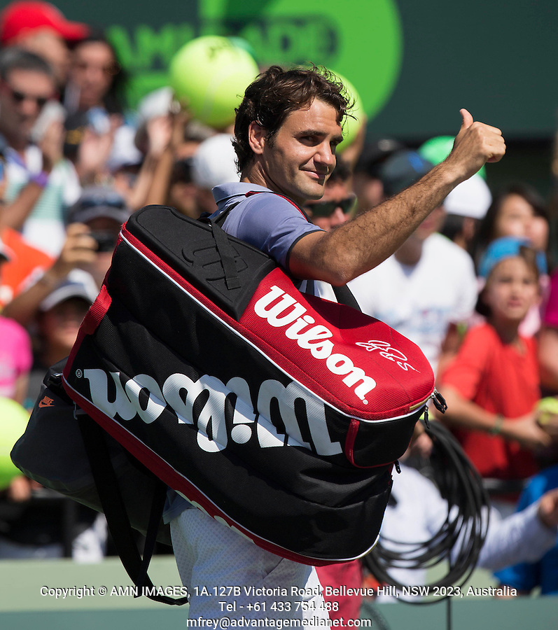 ROGER FEDERER (SUI)<br /> Tennis - Sony Open - ATP-WTA -  Miami -  2014  - USA  -  21 March 2014. <br /> &copy; AMN IMAGES