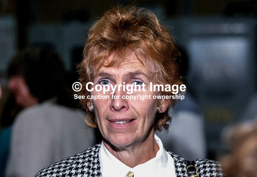 Angela Rumbold, MP, Conservative Party, junior education minister, UK, 19871012AR1.<br />