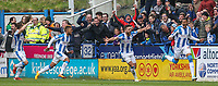 Huddersfield Town's Collin Quaner celebrates scoring the winning goal<br /> <br /> Photographer Alex Dodd/CameraSport<br /> <br /> The EFL Sky Bet Championship - Huddersfield Town v Preston North End - Friday 14th April 2016 - The John Smith's Stadium - Huddersfield<br /> <br /> World Copyright &copy; 2017 CameraSport. All rights reserved. 43 Linden Ave. Countesthorpe. Leicester. England. LE8 5PG - Tel: +44 (0) 116 277 4147 - admin@camerasport.com - www.camerasport.com