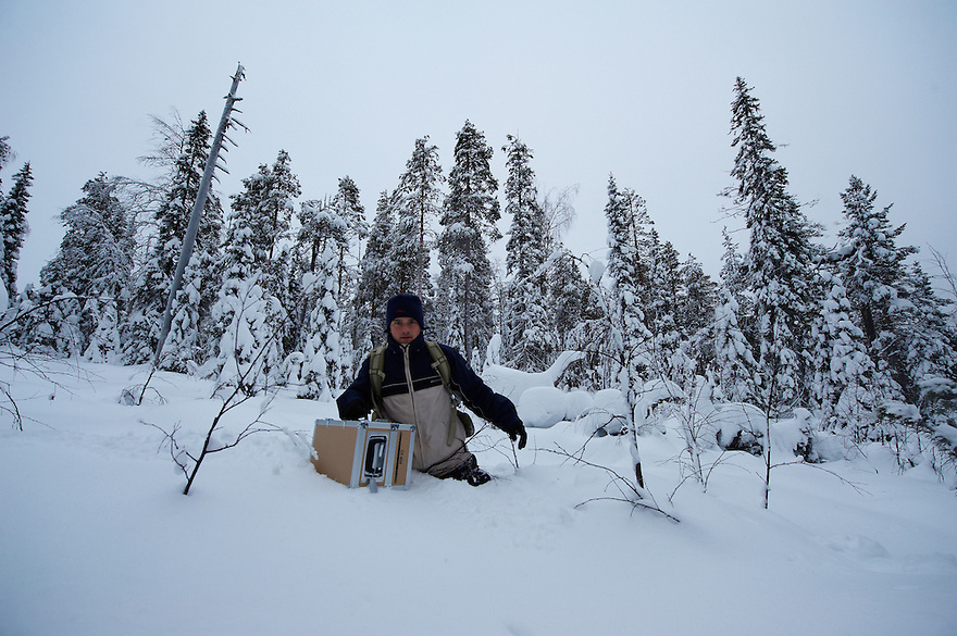 NATURE AND WILDLIFE PHOTOGRAPHER; SVEN ZACEK; OULANKA NATIONAL PARK; KUUSAMO; KITKAJOKI; FINLAND 2009; EUROPE; WINTER