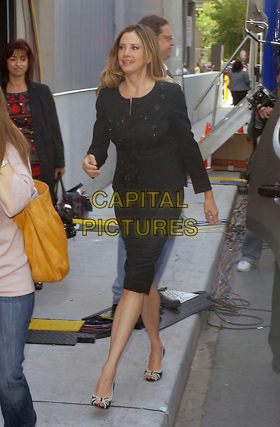 "MIRA SORVINO.""Reservation Road"" Press Conference held at Sutton Place Hotel, Toronto, Ontario, Canada..September 12th, 2007 .full length skirt jacket black walking .CAP/ADM/BPC.©Brent Perniac/AdMedia/Capital Pictures."