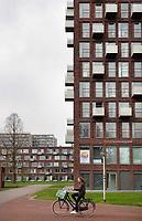 Nederland - Amsterdam- april 2018.  Nieuwbouw op Campus Uilenstede. Kamers met balkon voor studenten.  Foto Berlinda van Dam / Hollandse Hoogte
