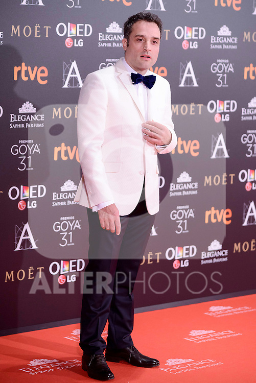 Daniel Guzman attends to the Red Carpet of the Goya Awards 2017 at Madrid Marriott Auditorium Hotel in Madrid, Spain. February 04, 2017. (ALTERPHOTOS/BorjaB.Hojas)