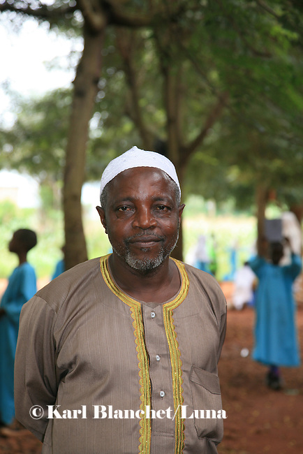 The director of the Islamic school in Sunyani, Ghana. In Ghana, coranic schools were transformed into islamic schools. Pupils learn the mainstream curriculum and have additional courses in arabic and islam.