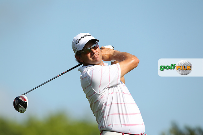 Retief Goosen of South Africa drives off the 10th tee during the 3rd round of the Valspar Championship, Innisbrook Resort (Copperhead), Palm Harbor, Florida, USA<br /> Picture: Peter Mulhy / Golffile