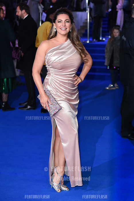 "LONDON, UK. December 12, 2018: Kelly Brook at the UK premiere of ""Mary Poppins Returns"" at the Royal Albert Hall, London.<br /> Picture: Steve Vas/Featureflash"