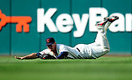 5 September 2009: Cleveland Indians' left fielder Matt LaPorta in action against the Minnesota Twins at Progressive Field in Cleveland, Ohio. The Indians fell to the Twins 4-1 in the second game of their three-game weekend series. Mandatory Credit: Ed Wolfstein Photo