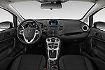 Stock photo of straight dashboard view of a 2019 Ford Fiesta SE 5 Door Hatchback