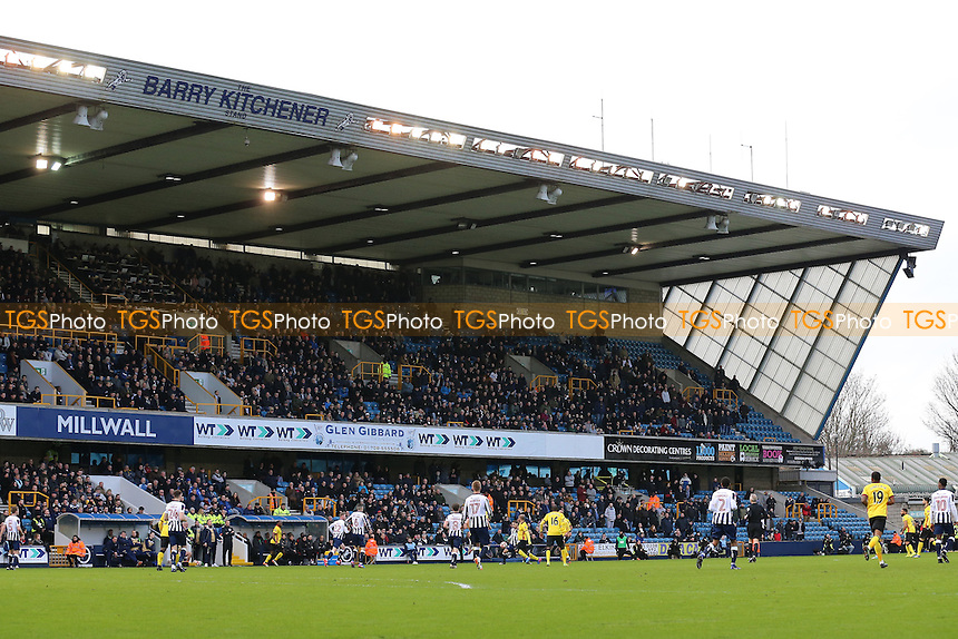 General view of the action during Millwall vs Watford, Emirates FA Cup Football at The Den on 29th January 2017